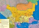 Историческая карта Болгарии при царе Калояне