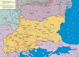 Historical map of Bulgaria after the Treaty of San Stefano