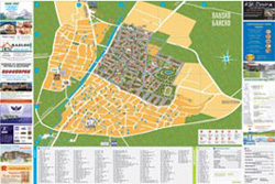 Back - map of the town of Bansko