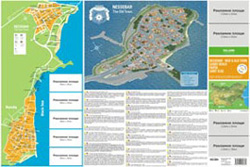 Front – map of the town of Nessabar - old and new part, the coastal part of Nessebar – Ravda, village of Ravda. Brief history of Nessebar